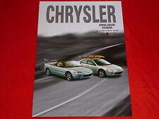 Chrysler Sebring Mopar accesorios folleto de 2001