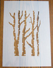 Trees Stencil + Positive Mask Reusable Mylar Sheet for Arts & Crafts, DIY