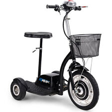 Electric Mobility Scooter Moto Tec 3 Wheel Trike 350 Watt Basket 36 Volt Travel