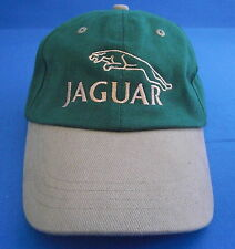 JAGUAR BASEBALL CAP GREEN/TAN PEAK WITH GOLD LOGO CAP2