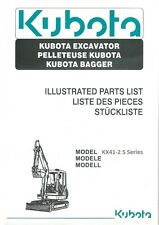 Kubota KX41-2 S Series Parts Manual (B297)