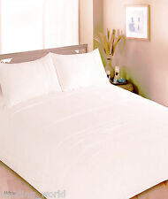 HILTON CREAM DOUBLE BED DUVET COVER SET PALE YELLOW SATIN STRIPE PLEATED LINES