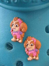2 Skye Paw Patrol Shoe Charms For Crocs & Jibbitz Wristbands. Free UK P&P.