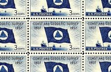 1957 - COAST AND GEODETIC SURVEY - #1088 Full Mint -MNH- Sheet of 50 Stamps
