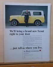 1964 magazine ad for International - coupon for The Scout, Brought to your door