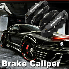 Black Brembo Style Universal Disc Brake Caliper Covers 4pcs Front and Rear bms08