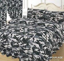 Breites Doppelbett Tarnfarbe Schwarz Leder Weiß Bettbezug Set Armee Farben