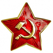 Soviet Badge Hammer & Sickle Army Red Star - WW2 Hat Pin Cap - Cockade - USSR