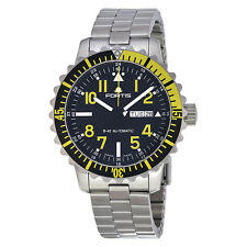 Fortis Marinemaster Black Dial Stainless Steel Mens Watch 6702414M