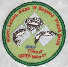 River, Lakes, Bays, 'N Bayous Trash Bash Patch - Clean It Like You Mean It!