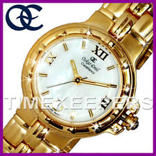 Ladies Oskar Emil Casablanca 303L 23K Gold Swiss Dress MOP Pearl Dial Watch £195