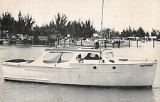 Madeira Beach Florida sport fishing boat Chesterfield vintage pc Z16179
