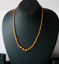 Real looking 22ct gold plated  chain Asian / necklace 18in choker CHAIN hc32
