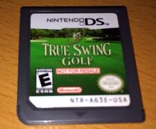 True Swing Golf (Nintendo DS, 2006) NOT FOR RESALE CART TESTED RARE