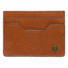 Fred Perry Tan Animal Embossed Card Leather Wallet Men's Card Holder Wallets