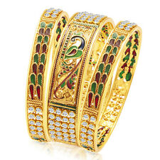 Sukkhi Ritzy Peacock Gold Plated Bangle For Women(32077BGLDPP3750)