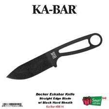 Ka-Bar Becker Eskabar Knife, Black Hard Sheath, Straight Edge Blade #BK14
