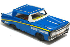 "Vintage AIRPORT LIMOUSINE Car Friction Toy Metal Tin  5"" Japan 60's"