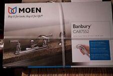 Moen Banbury CA87552 Lo Arc Kitchen Faucet w/ Sprayer Chrome Brand New Z