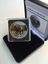 2013 Canada $5 .999 1 Oz Silver Maple Leaf Wildlife Wood Bison - Full Color COA