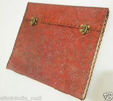 EXTRA LARGE Leather Bound Embossed Journal Sketchbook Huge Blank Book of Shadows