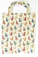 Tapestry Signare Cat Eco Tote Bag - Carry Bag - Features Colourful Cats