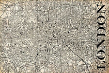 "Vintage Map of London 20"" x 30:"