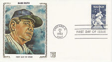Z ZASO SILK CACHET FIRST DAY COVER FDC - 1983 BABE RUTH BAMBINO BASEBALL BR-7