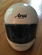 Arai Signet/s Snell Dot Vintage Motorcycle Helmet White Size Large