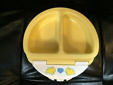 FISHER PRICE DIVIDED FEEDING BABY TODDLER DISH WITH LID-1990