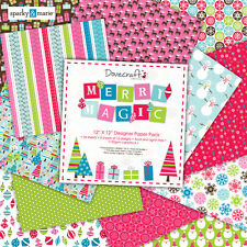 "Dovecraft Merry Magic 12"" x 12"" Designer Papers 12 SHEETS"