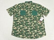 $52 NWT Mens Enyce Sean Combs Camo Print Button Down Shirt Urban 3XL 3X 3XB M975