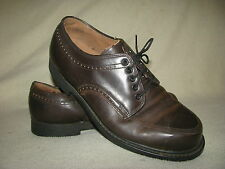 KNAPP Mens 7.5 D Brown Leather Steel Toe Safety Oxfords Dress Shoes