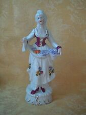 Vintage Beautiful Porcelain Colonial Lady Figurine Made in Japan Gold Gilt