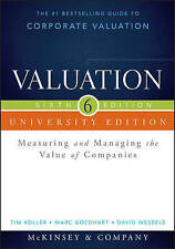 Valuation: Measuring and Managing the Value of Companies by Barbara Schwimmer, …