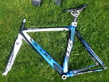 BLUE COMPETITION CYCLES T16 ALU - CARBON FIBER ROAD BIKE FRAME AERO TRIATHLON TT