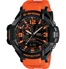 Casio G-Shock Mens Black/Orange Resin Aviation Watch GA1000-4ACR