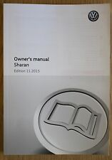 Genuine Vw Sharan Manual Owners Manual Guía Libro 2010-2016 11816