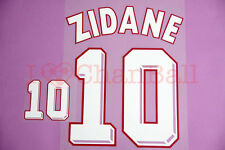 Zidane #10 1998 France Homekit Nameset Printing
