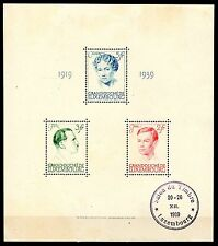 Luxembourg - 1939 Charlotte 20 years reign - Mi. Bl. 3 VFU