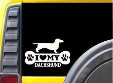 Dachshund Bone L076 8 inch Sticker dachshund dog decal