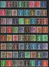 GB 1971 - 1996 machin definitives selection from SGX841-994 fine used 97 stamps