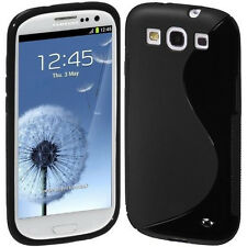 SGS III GRIP S-LINE SOFT SILICONE GEL BLACK CASE for Samsung i9300 Galaxy S3