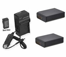 Two 2 Batteries + Charger for Canon LP-E10 LPE10 REBEL T3 EOS 1100D Digital