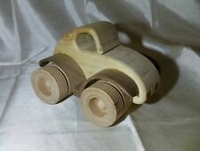 WOODEN TOY CAR:  HOT ROD COUPE STYLE – VERY COOL – WELL MADE