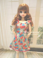 Doll dress ~ Obitsu 27cm/Pullip#3/Momoko Pretty Flower print dress 1pcs