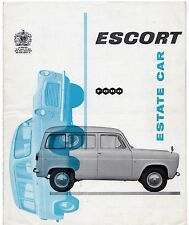 Ford Escort 1959-61 UK Market Foldout Sales Brochure Anglia 100E