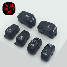 Black 6 Pc Hand Contorl Switch Housing Button Cover Cap Kit for Harley 1996-2013