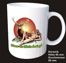 Diosa DIANA de la Caza - Erótico Jäger Wild Cerámica café Bote Taza Idea Regalo