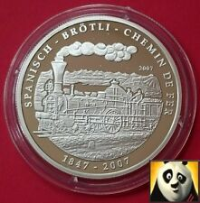 2007 congo 1000 francs cfa BROTLI chemin de fer railway silver proof coin